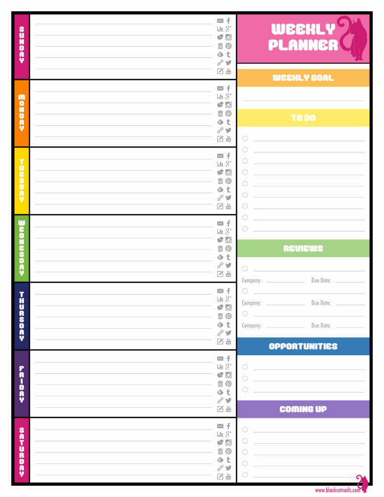 Daily Planner Excel Template Fresh Free Weekly Planner Templates Best Agenda Templates