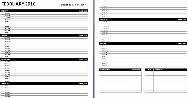 Daily Planner Template Word Inspirational Daily & Weekly Ms Word Planner Templates