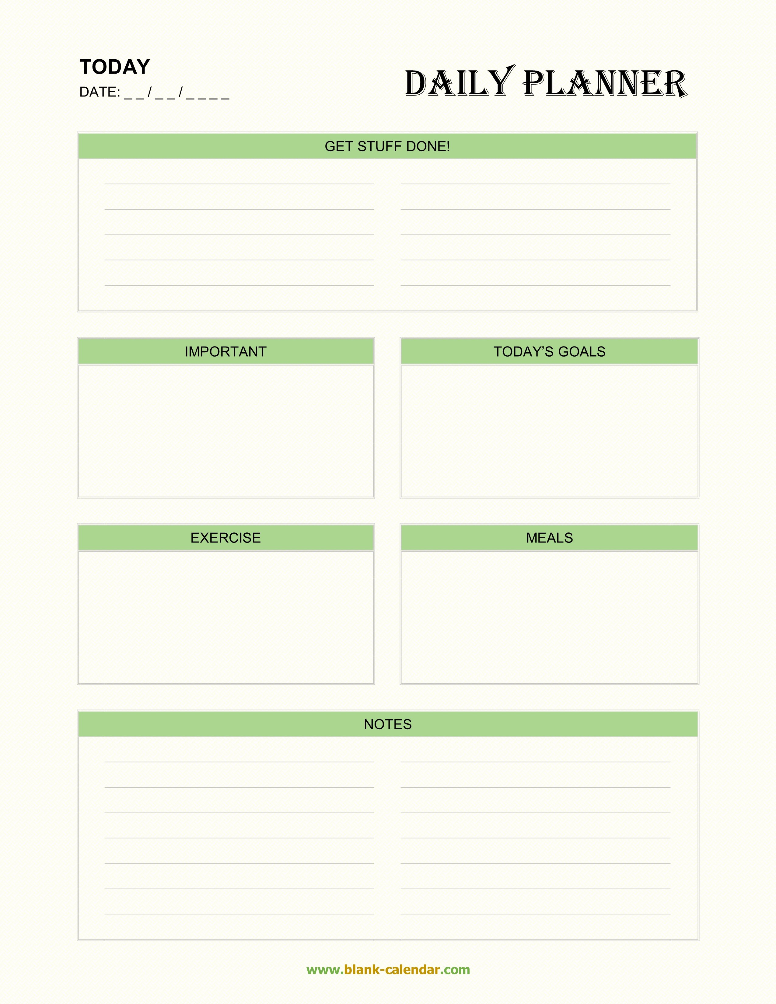 Daily Planner Template Word Inspirational Daily Planner Templates Word Excel Pdf