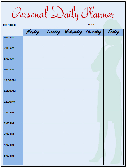 Daily Planner Template Word Luxury Daily Planner Template that Helps to Keep You On Track