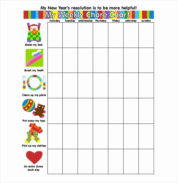Daily Weekly Chore Chart Beautiful How to Make Good Schedule Using 5 Chore List Template Types