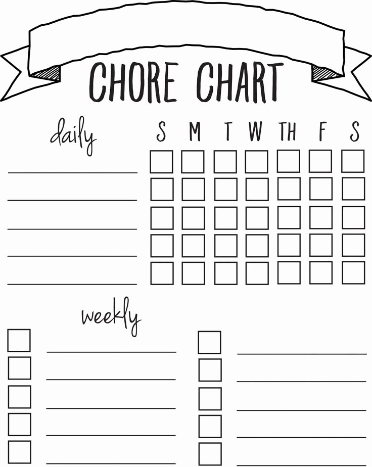 Daily Weekly Chore Chart Best Of Diy Printable Chore Chart