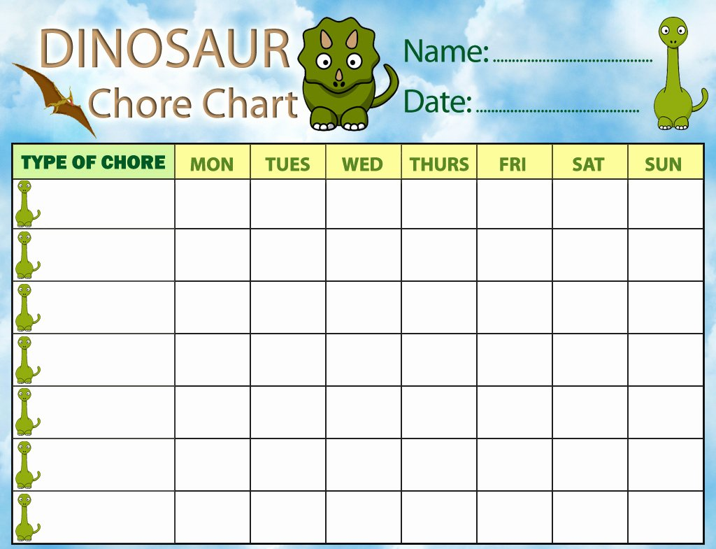Daily Weekly Chore Chart Inspirational Chore Charts – Printable Cute Chore Charts for Kids