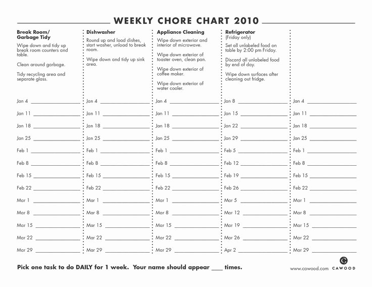 Daily Weekly Chore Chart New Best 20 Chore Chart Template Ideas On Pinterest