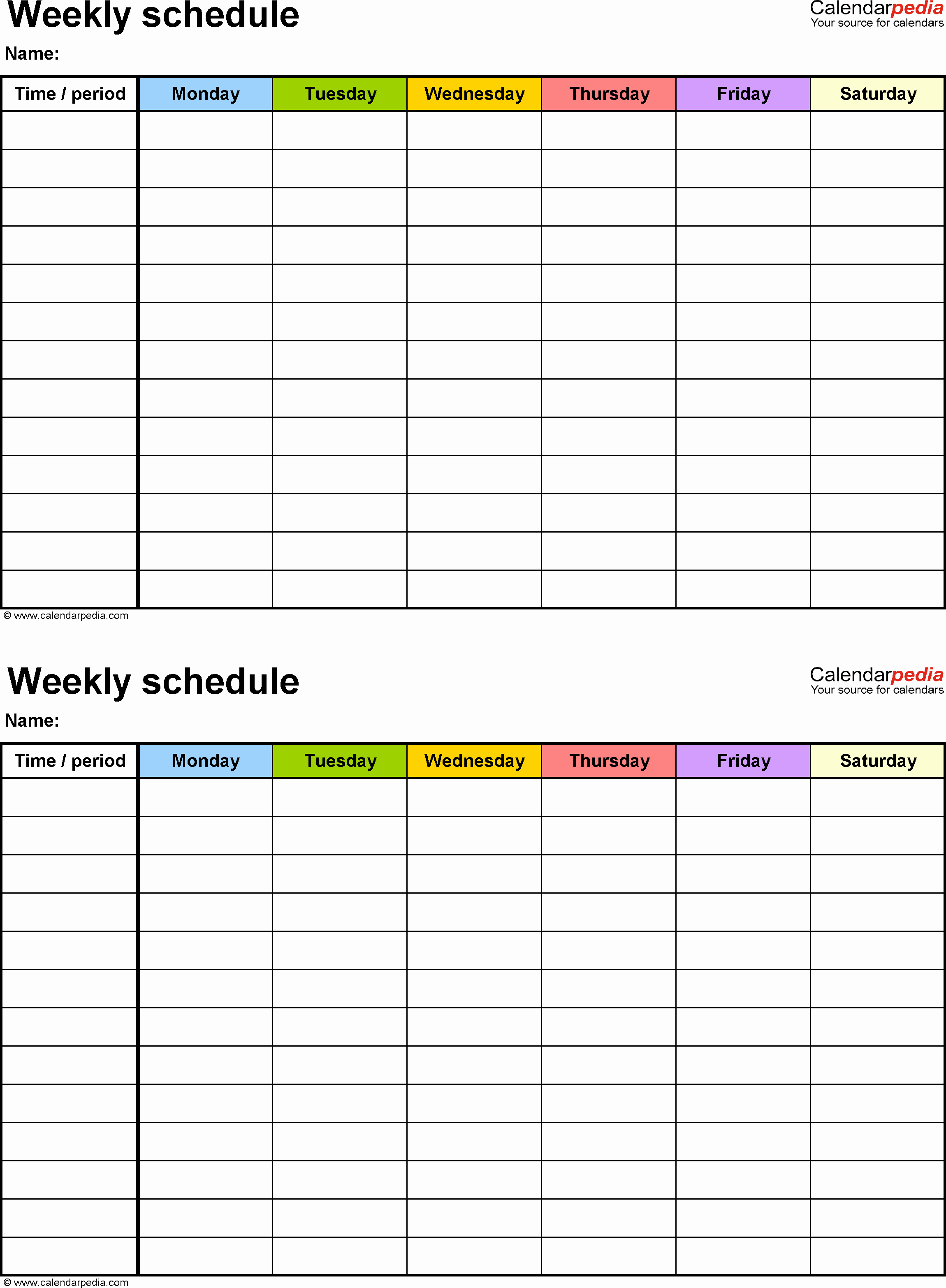 Day Planner Template Word Elegant Weekly Schedule Template for Word Version 9 2 Schedules