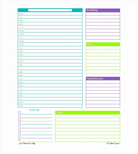 Day Planner Template Word Fresh 31 Daily Planner Templates Pdf Doc