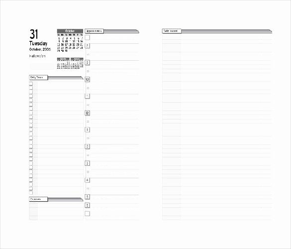 Day Planner Template Word Unique 7 Free Daily Planner Templates In Microsoft Word Download