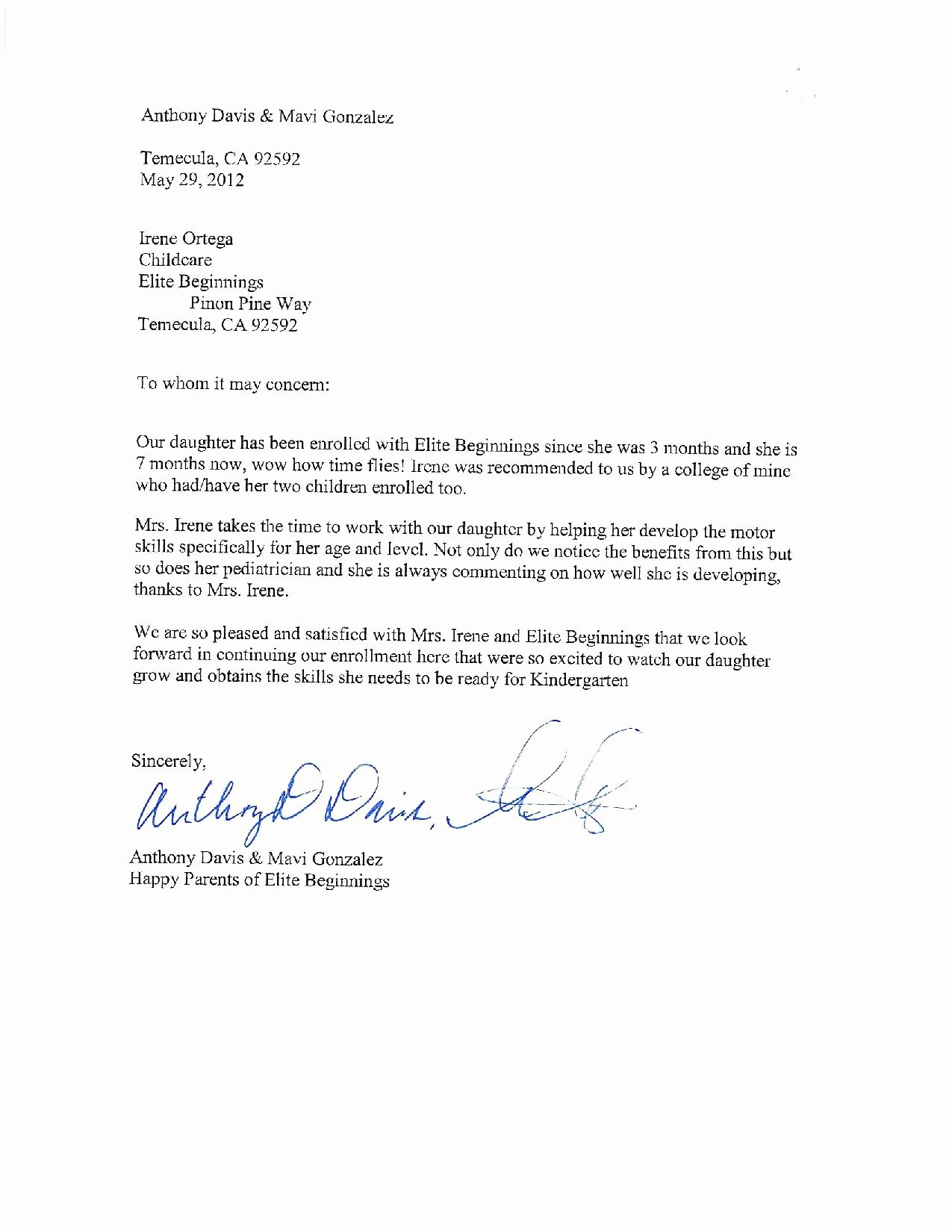 Daycare Letter Of Recommendation Luxury Copyright ©2011 2012 Childcare Lic