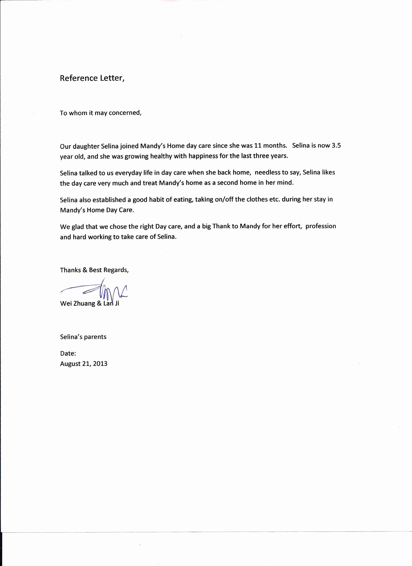 Daycare Letter Of Recommendation Luxury Sandra Vella Author at Daycare Consulting Services