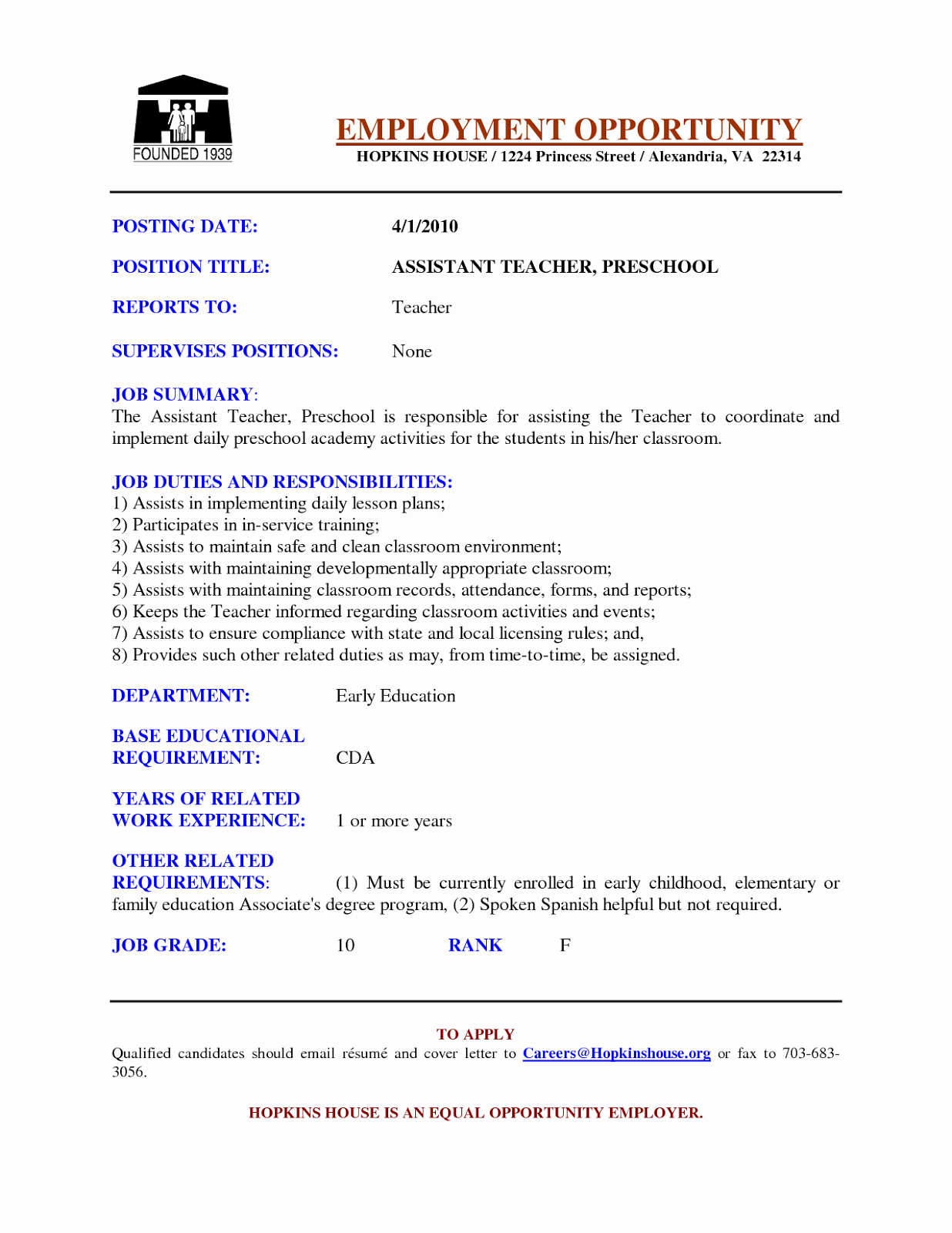 Daycare Teacher Resume Sample New Preschool Teacher Resume Samples