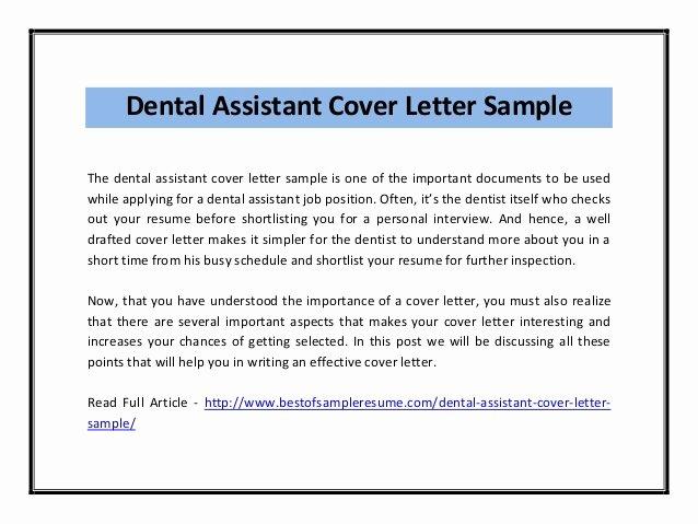 Dental assistant Student Resume Awesome Dental assistant Cover Letter Sample Pdf