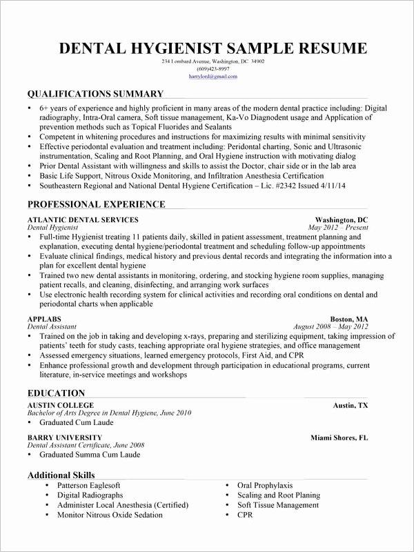 Dental assistant Student Resume Best Of Dental assistant Resume Template 7 Free Word Excel
