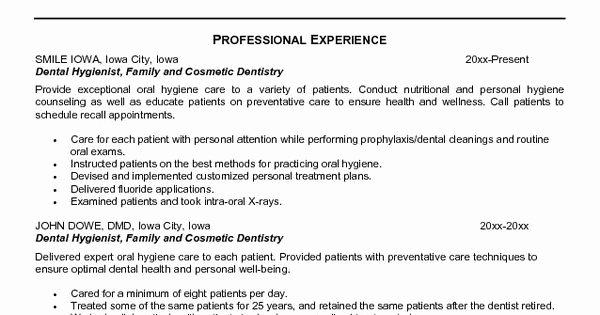 Dental assistant Student Resume Fresh Dental Hygienist Resume Objective Dental Hygienist