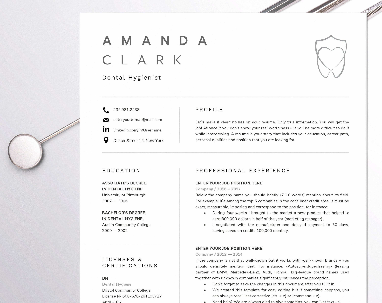 Dental assistant Student Resume Unique Dental assistant Resume for Word Dentist Cv Template