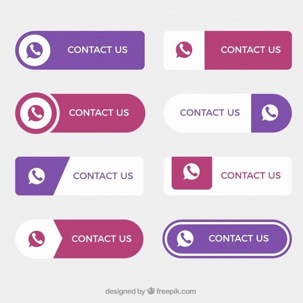 Design A button Kit Beautiful Set Of Nice Contact buttons In Flat Design Vector