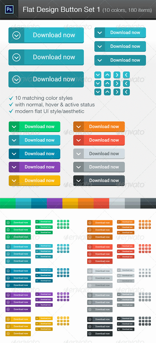 Design A button Kit New 118 Flat Design buttons Elements & Ui Kits for Graphic