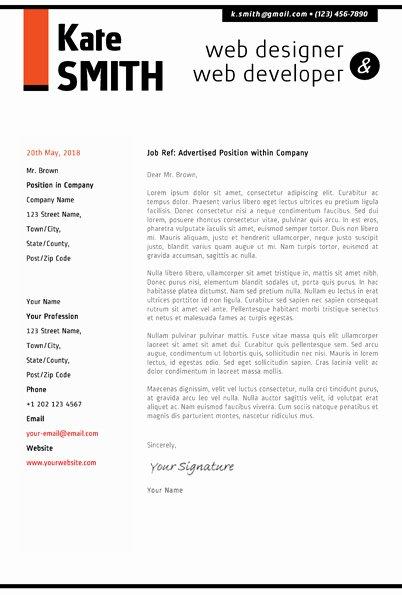 Design Cover Letter Examples Awesome Web Designer Resume Template Cover Letter Portfolio