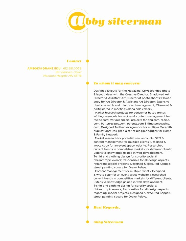 Design Cover Letter Examples Luxury 22 Best Images About Graphic Design Resume On Pinterest