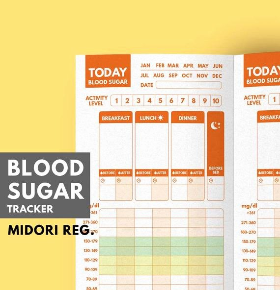 Diabetes Food Diary Printable Best Of Blood Sugar Tracker Tn Insert Type 1 Diabetes Planner Blood