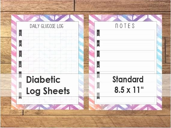 printable diabetic log sheets colorful