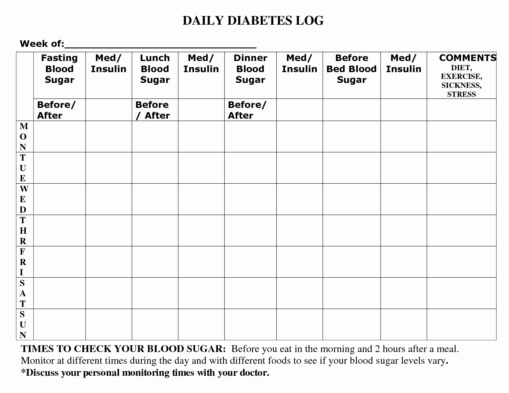 Diabetes Food Diary Printable Luxury Printable Diabetic Food Log Sheets