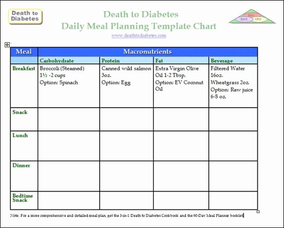 diabetes meal planning templates
