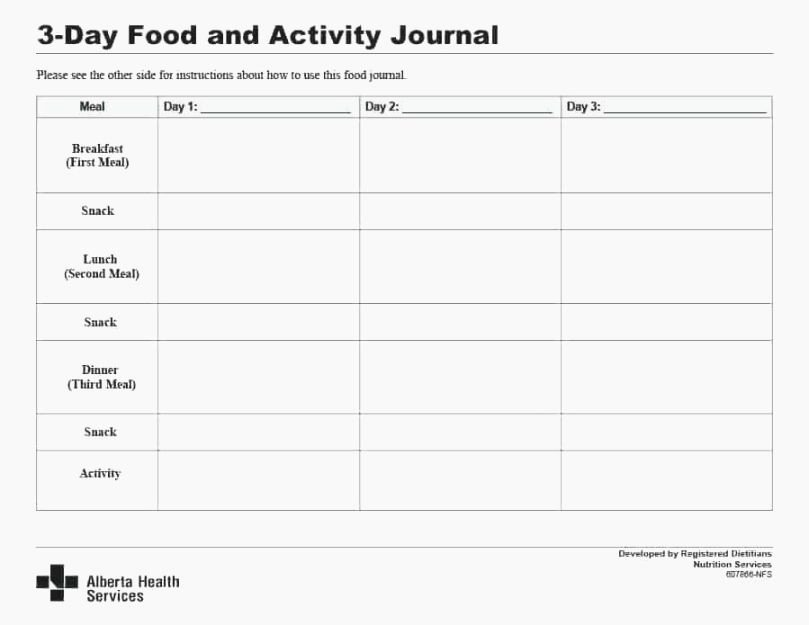 Diabetic Food Journal Template Inspirational Best Breathtaking Printable Mayo Clinic Diet