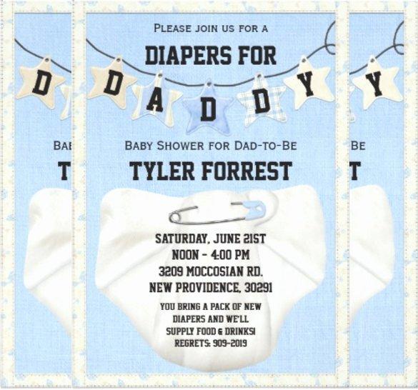 Diaper Invitation Template Free Beautiful 10 Diaper Invitation Templates Free Sample Example