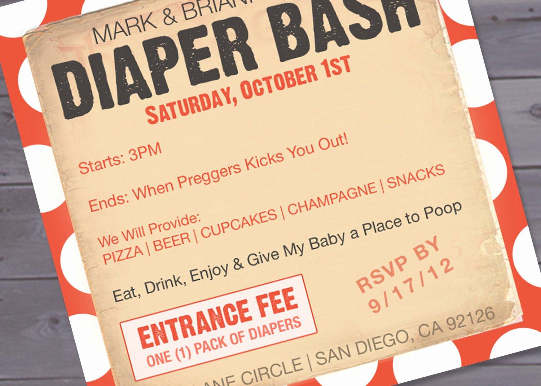 Diaper Invitation Template Free Luxury Diaper Bash Baby Shower Invitation Printable