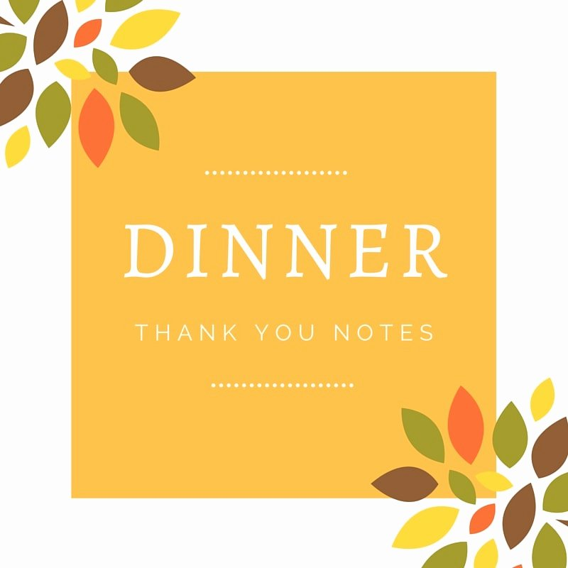 Dinner Party Thank You Notes Beautiful Dinner Thank You Notes
