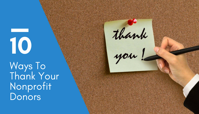 Dinner Party Thank You Notes Beautiful Donor Recognition Ideas 10 Ways to Thank Your Nonprofit