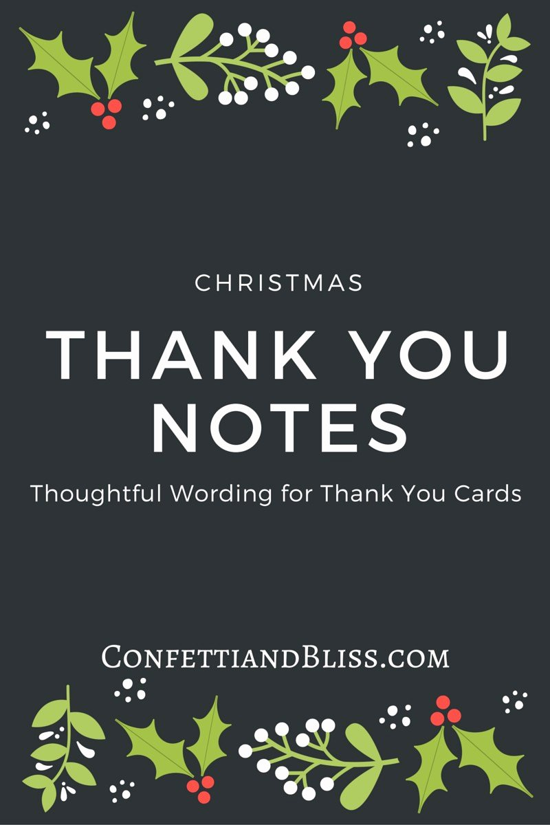 Dinner Party Thank You Notes Fresh Christmas Thank You Card Wording