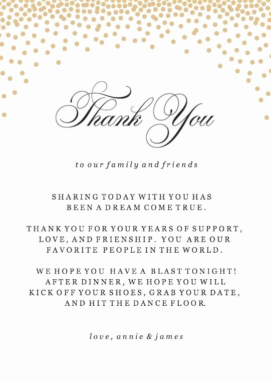 Dinner Party Thank You Notes Inspirational Gold Confetti Thank You Cards Printable by Basic Invite