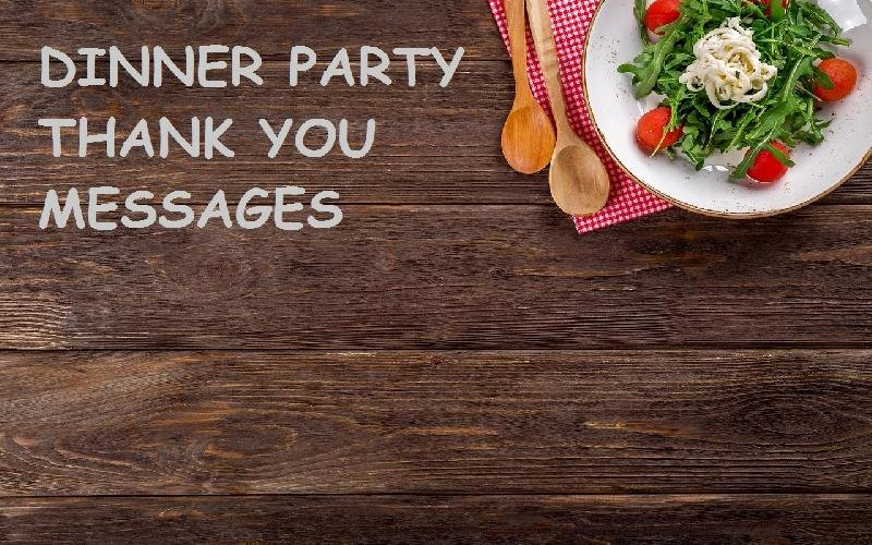Dinner Party Thank You Notes Lovely Thank You Messages for Dinner Party Thank You Notes for
