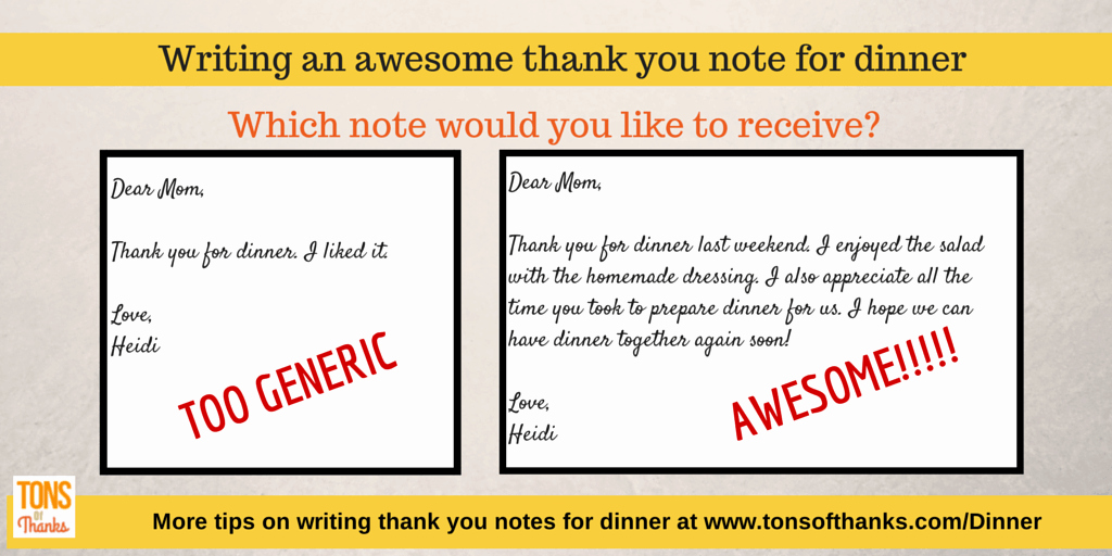 Dinner Party Thank You Notes Unique Write An Awesome Thank You Note for Dinner