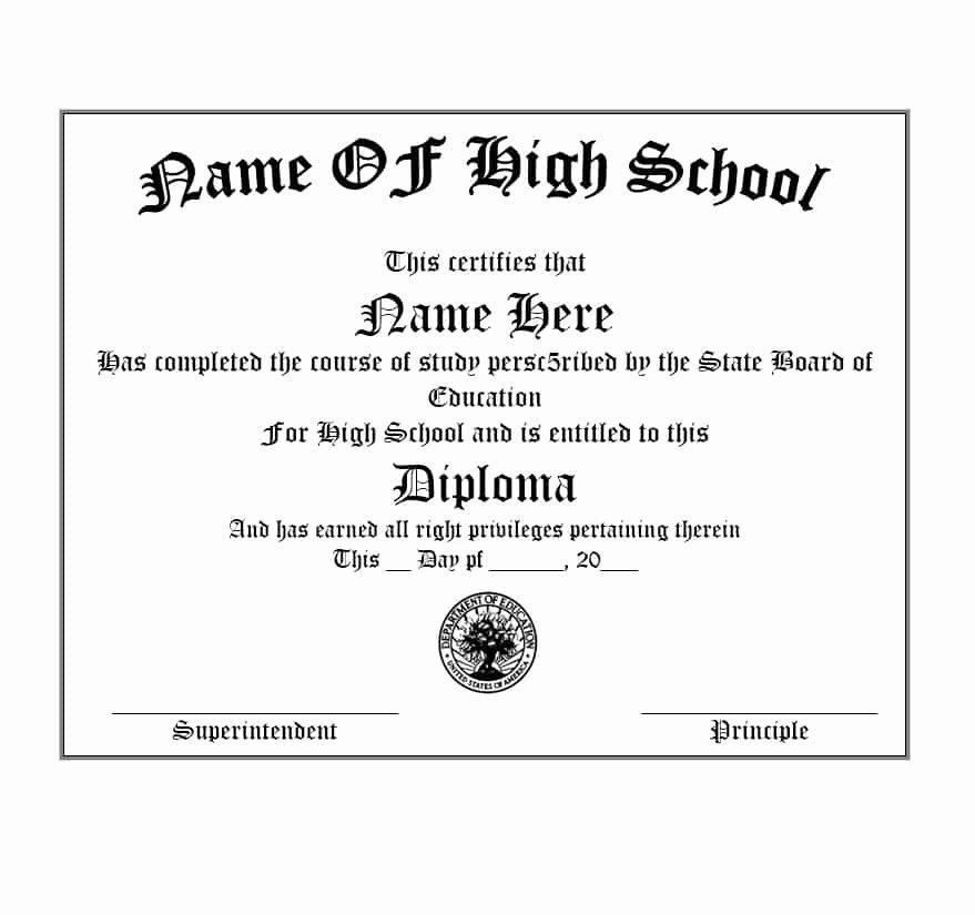 Diploma Templates Free Printable Awesome 30 Real & Fake Diploma Templates High School College