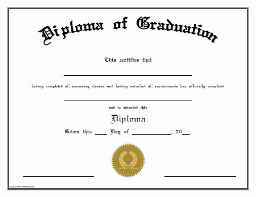 Diploma Templates Free Printable Awesome Free Printable Preschool Graduation Certificates – Planner