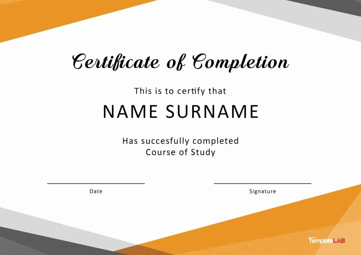 Diploma Templates Free Printable Beautiful 40 Fantastic Certificate Of Pletion Templates [word