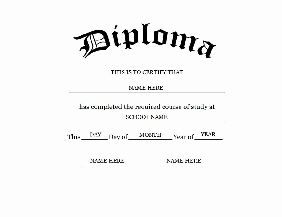 Diploma Templates Free Printable Beautiful Blank High School Diploma Template Free Printables