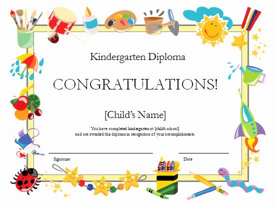 Diploma Templates Free Printable Best Of Preschool Certificates On Pinterest