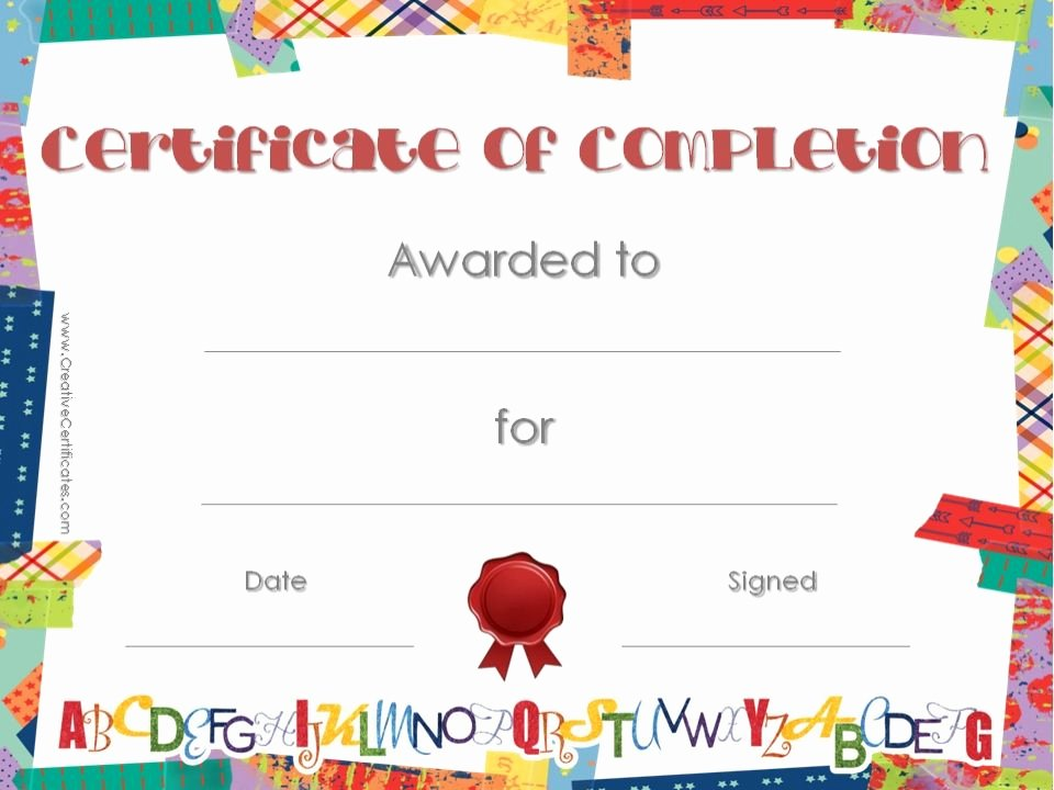Diploma Templates Free Printable Best Of School Certificate with Colored Washi Tape Border with A
