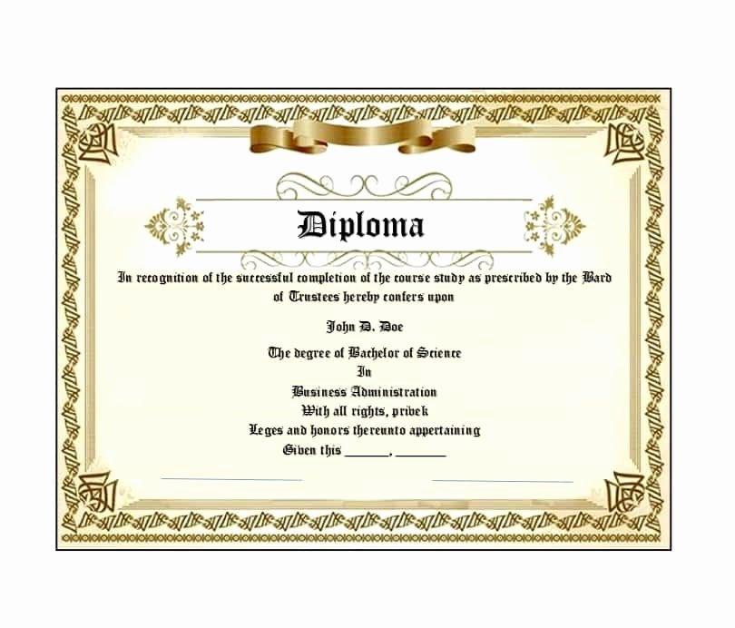 Diploma Templates Free Printable Elegant 30 Real & Fake Diploma Templates High School College