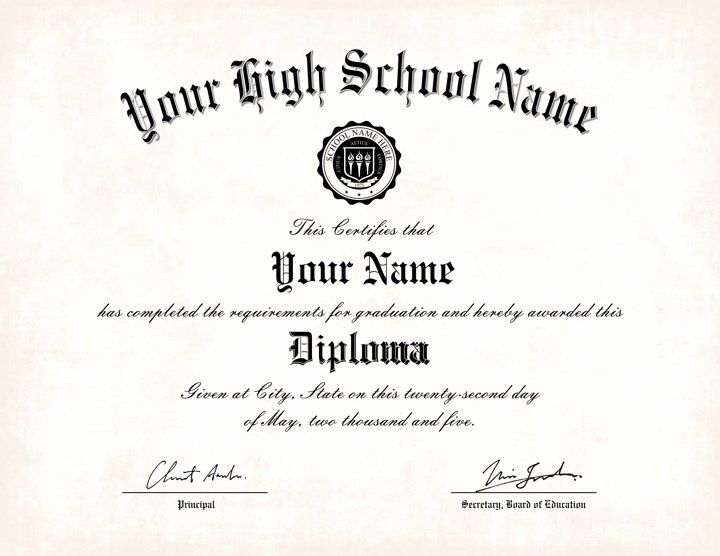 Diploma Templates Free Printable Fresh Free Printable High School Diploma Templates