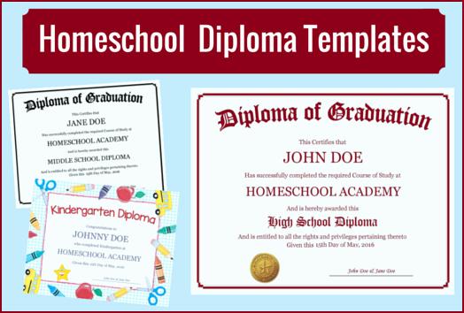 Diploma Templates Free Printable New Homeschool Diploma Templates Free for Homeschoolers
