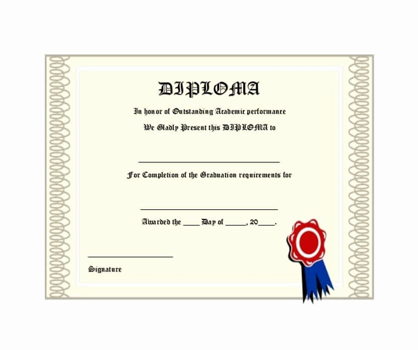 Diploma Templates Free Printable Unique 30 Real & Fake Diploma Templates High School College