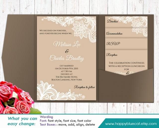 Direction Card Template Microsoft Word Beautiful Diy Printable Pocket Wedding Invitation Template Set