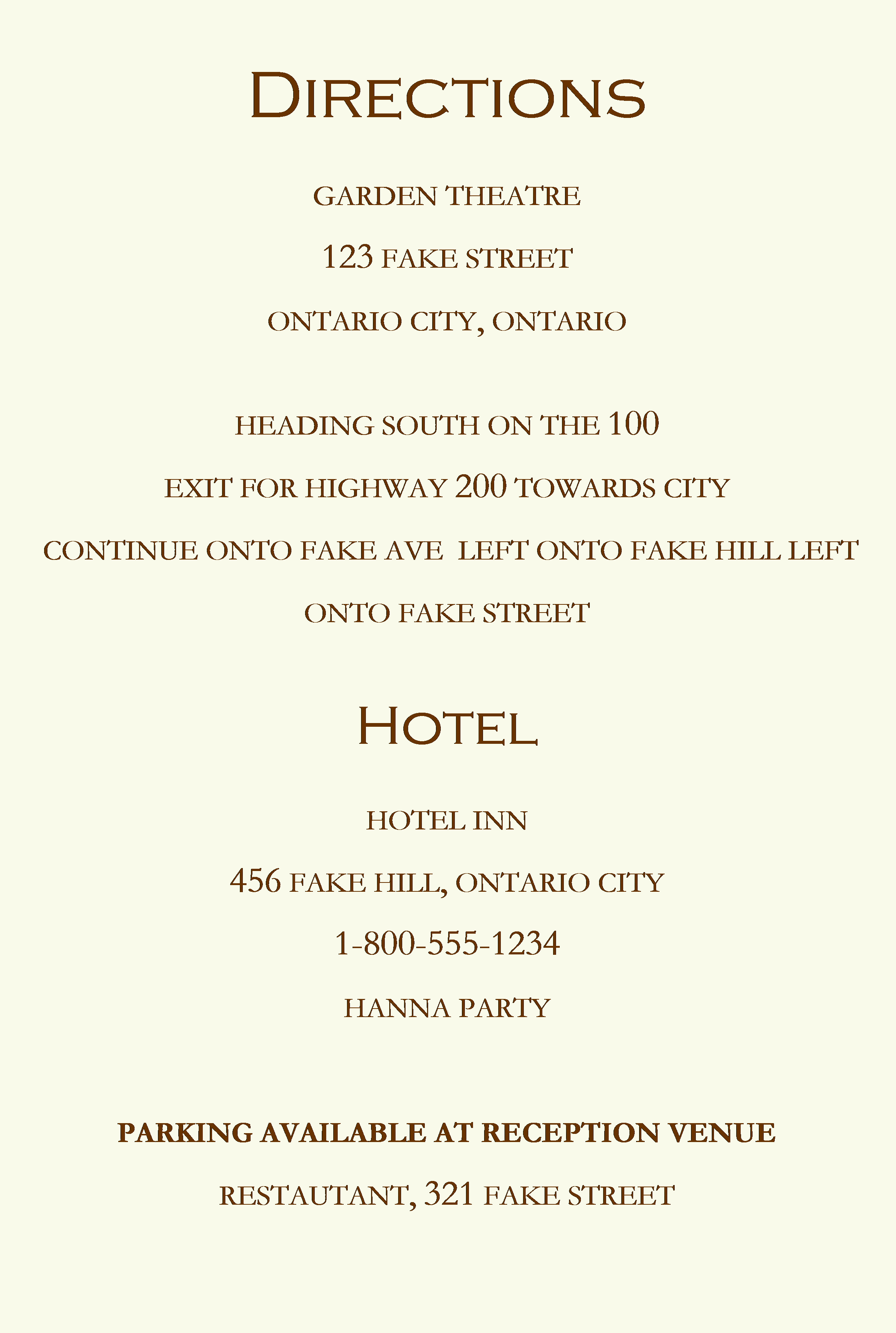 Direction Card Template Microsoft Word Beautiful Wedding Planning Viii Wedding Invitations sophster toaster