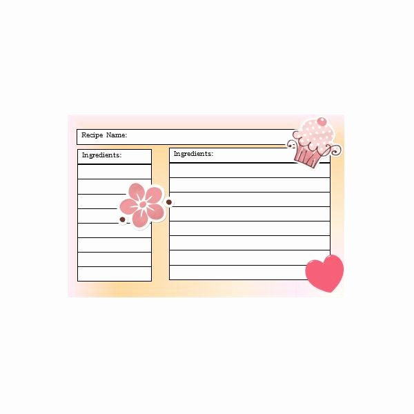 Direction Card Template Microsoft Word Beautiful Yummy 5 Free Printable Recipe Card Templates for