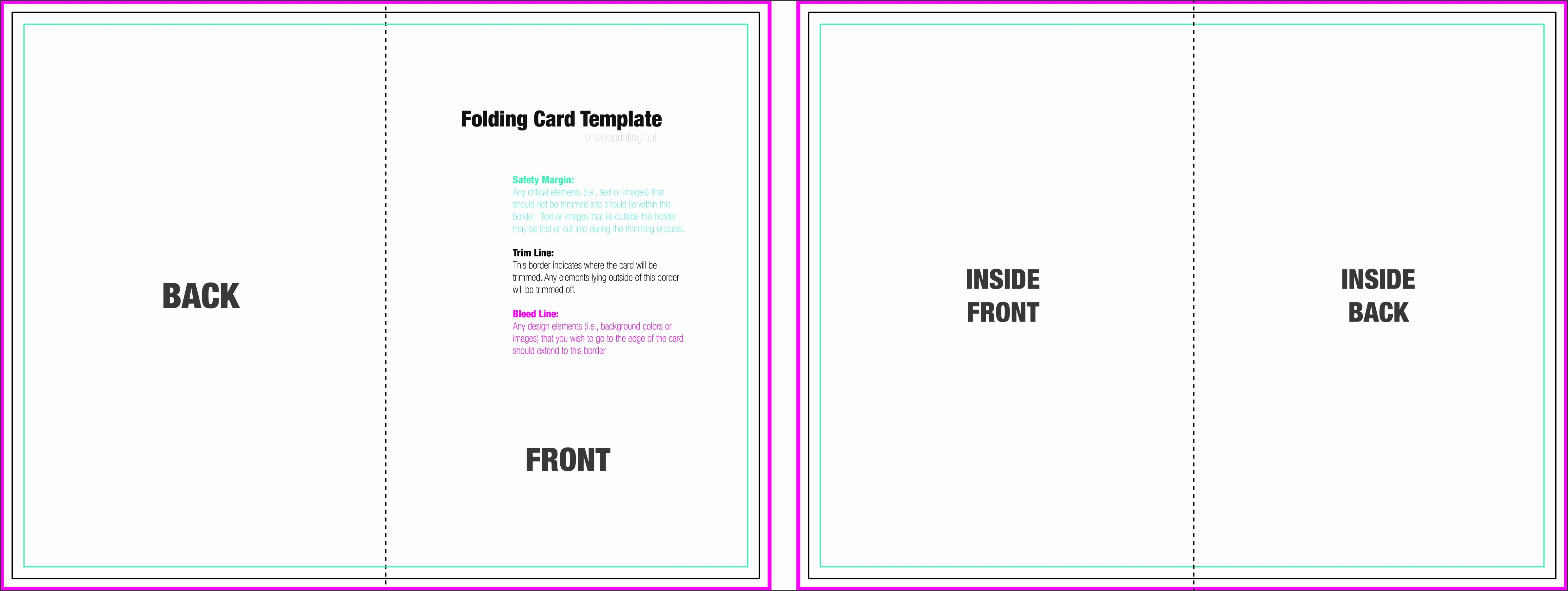Direction Card Template Microsoft Word Best Of 8 Foldable Card Template Word Sampletemplatess