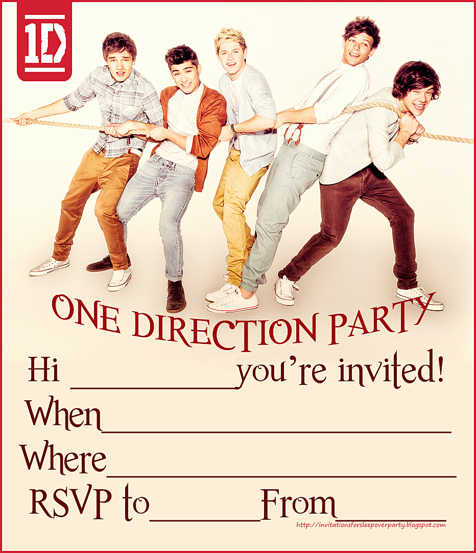 Direction Card Template Microsoft Word Elegant 1d One Direction Party Invitations Free 932×1 082